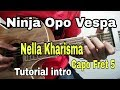 Belajar gitar Ninja Opo Vespa-Nella Kharisma(intro)-Belajar gitar untuk Pemula