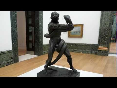 Sir Frederic Leighton, An Athlete Wrestling with a Python, 1877
