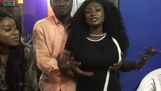 Abeiku Santana fondles Abena Moet's boobs on camera