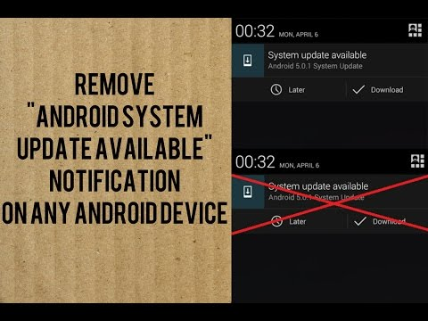 How To Remove OR Disable Android System Update Available Notification on Any Android Device