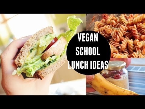 VEGAN SCHOOL LUNCH IDEAS!