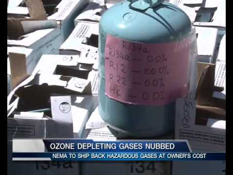 OZONE DEPLETING GASES NUBBED