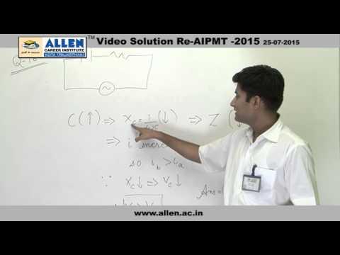AIPMT 2015 Re-Exam Physics Solution – Q. No. 162 (Paper Code-A)