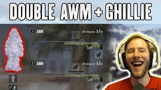 AMAZING DOUBLE AWM + SNOW GHILLIE COMBO! - ChocoTaco Solo Win 16 Kills | PUBG HIGHLIGHTS #203