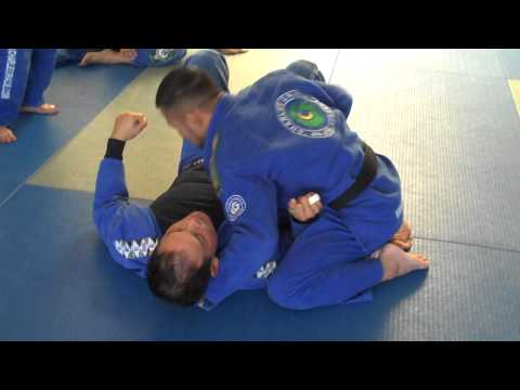 North South choke begining from Side Mount - Charles Gracie Jiu-Jitsu Image 1