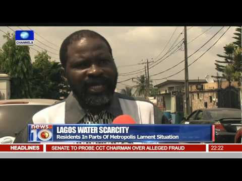 News@10: Lagos Residents React To Lingering Water Scarcity 19/11/15 Pt 2