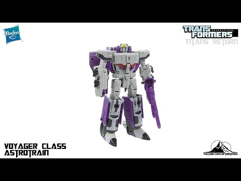 Transformers Titans Return Voyager Class ASTROTRAIN Video Review