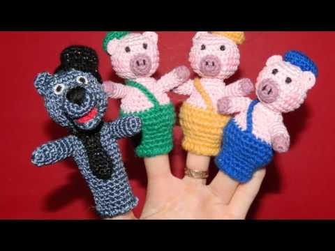 вязание крючком пальчиковые куклы схемы