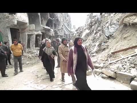 UN agency delivers supplies to besieged Yarmouk camp in Syria amid 'unbelievable devastation'