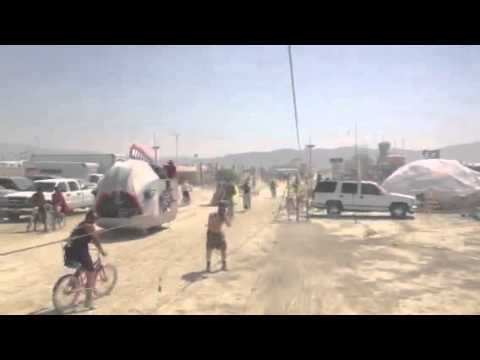 Zip Line Cherry Popping at Burning Man