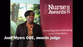 Joan Myers OBE urges nurses to share good practice by entering the RCNi Nurse Awards