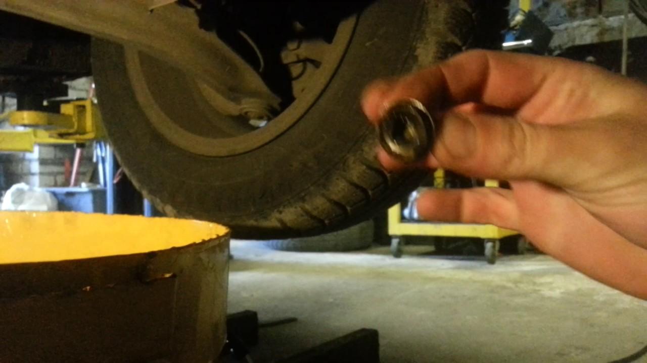 Renault logan замена масла своими руками