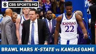 Kansas State vs #3 Kansas: Brawl breaks out at end of Jayhawks' victory vs. Wildcats | CBS Sports HQ