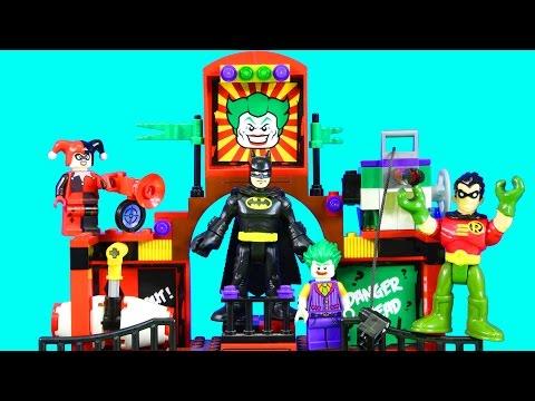 Lego Batman Movie & Imaginext Robin With Joker Phantom Projector Replicating On Earth 2 Episode
