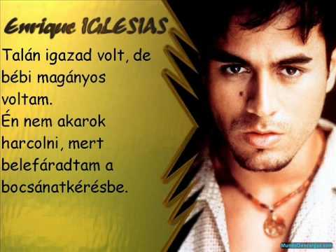 Enrique iglesias tired of being sorry magyar felirat.