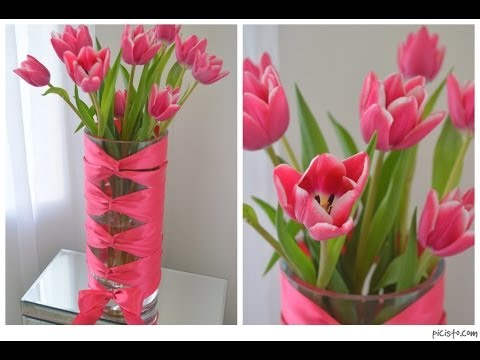 Diy Corset Vase With Cut Tulips Youtube