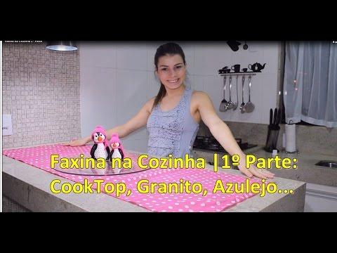 Faxina na Cozinha |1º Parte: CookTop, Granito, Azulejo... | Paloma Soares