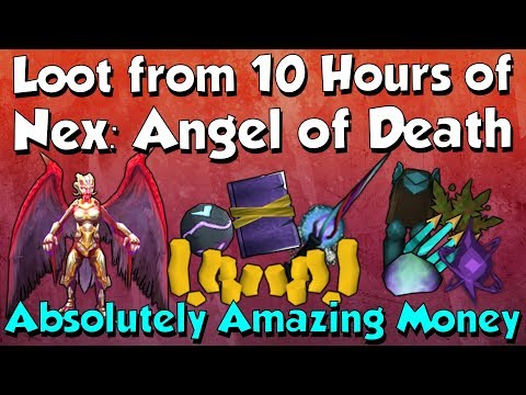 Loot from 10 hours of Nex: Angel of Death [Runescape 3] 25M+ Gp/hr!