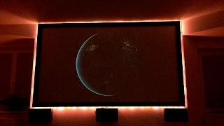 Digital LED Strip on projector screen controlled with Alexa