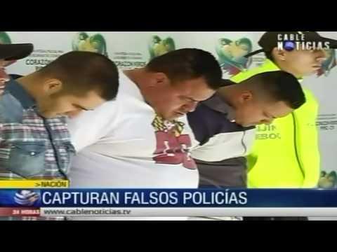 Capturan a banda delincuencial de policías falsos