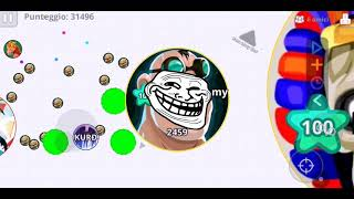 Funny moments and fails on agario mobile\road to 200 subs come on!!😘🇮🇹