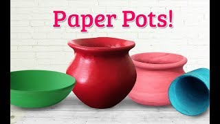 Very Creative & Realistic Paper Pot Making | DIY Newspaper Craft | Clay Crafts | StylEnrich