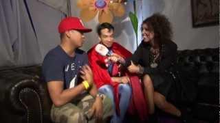 Batman, Superman & Spiderman - Interview at Tomorrowland 2012