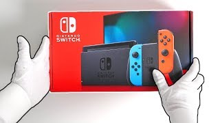 Nintendo Switch V2 Console Unboxing (New and Improved) + Astral Chain Collector's Edition