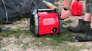 Honda EM650 Generator cold start demo