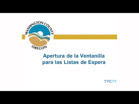 Wash County Housing Authority Waitlist Opening SPANISH PSA