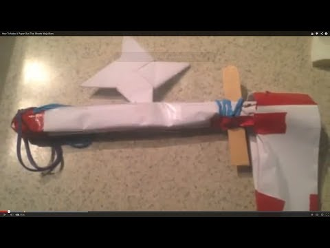How To Make A Paper Gun That Shoots Ninja Stars