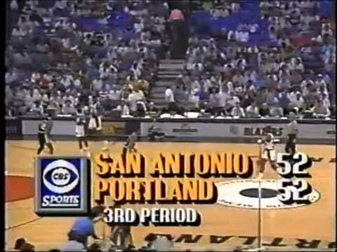 1990 Playoffs San Antonio@Portland GAME 1 HIGHLIGHTS
