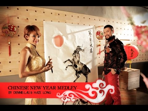 Violin + Speed Painting - Chinese New Year Medley by Dennis Lau & Haze Long