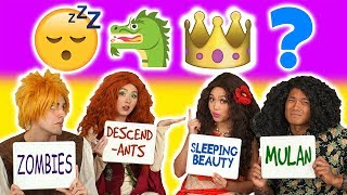 MOANA VS MERIDA Guess the Movie Challenge from Emojis. With Maui and Dingwall (Totally TV Dress Up)
