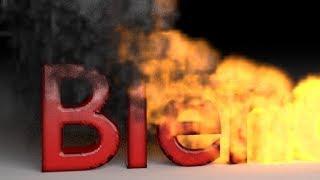 Blender Tutorial: Fire Smoke Text Animation