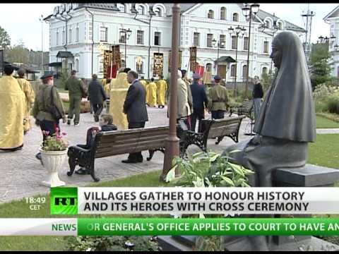Villages honour heroes with cross ceremony