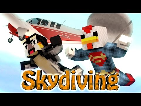 Minecraft | SKY DIVING CHALLENGE - New York vs Sky Diving! (Planes Mod)