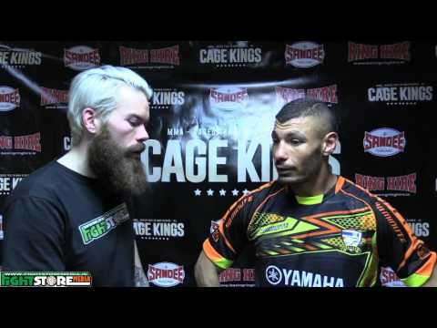 Issam Reghi post fight interview at Cage Kings Dublin