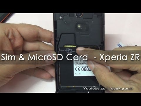 Sony Xperia ZR How to install the Sim Card & Micro SD Card