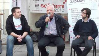 Blogpress: Stanisław Fudakowski pod namiotem Solidarnych 2010 cz. 2