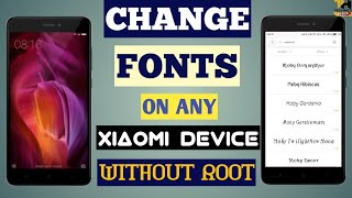 How To Change Fonts on [Miui 8,9,10] Redmi Note 4 Without ROOT By HY Tutorial