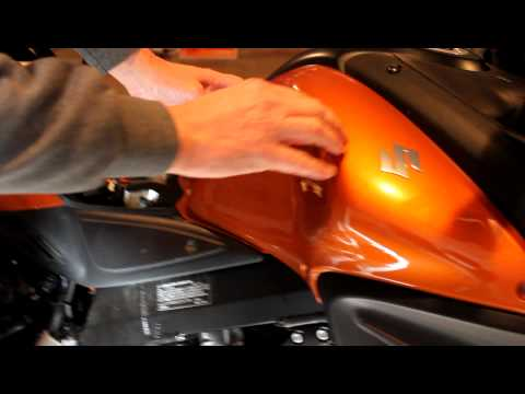 Removing fuel tank cover on 2012 Suzuki DL650
