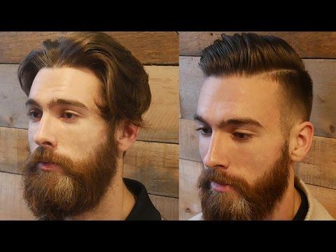 Extreme Modern Hair & Beard Makeover Transformation   Men's Haircut & Beard Tutorial 2017