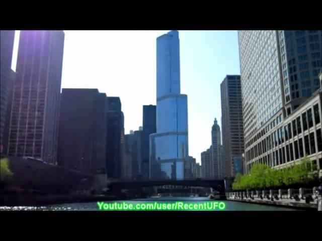 UFO Chicago 2011 - UFOs 2011 Over Chicago City  13/12/2011