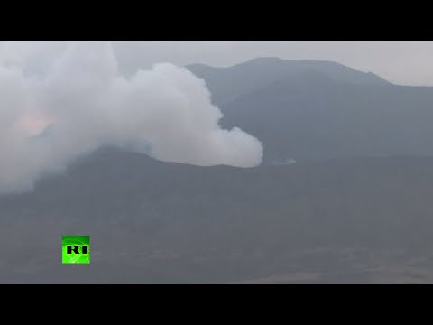 Mt Aso Burps: Largest Japan active volcano erupts for 1st time in 22yrs