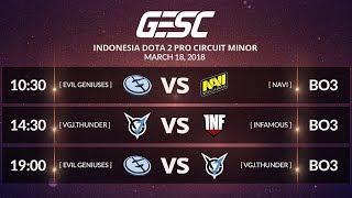 EVIL GENIUSES (US)  vs VGJ THUNDER (CN) [BO3] @GESC INDONESIA MINOR Playoffs Final Day