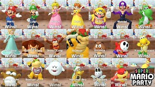 Super Mario Party 〇 All Characters Win and Lose Animations