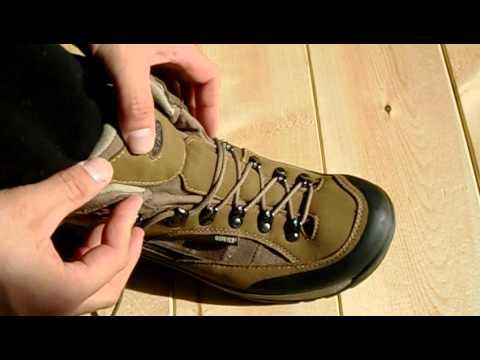 登山靴 紐の結び方