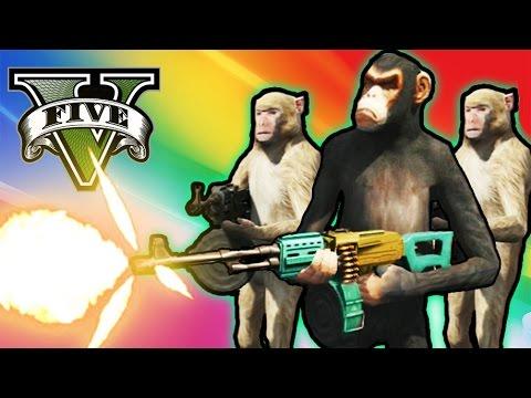 GTA V Online - EJERCITO DE MONOS ASESINOS!! - Escuadrón 17! - NexxuzHD