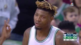 Marcus Smart on Porzingis, Gasol, Embiid and Davis